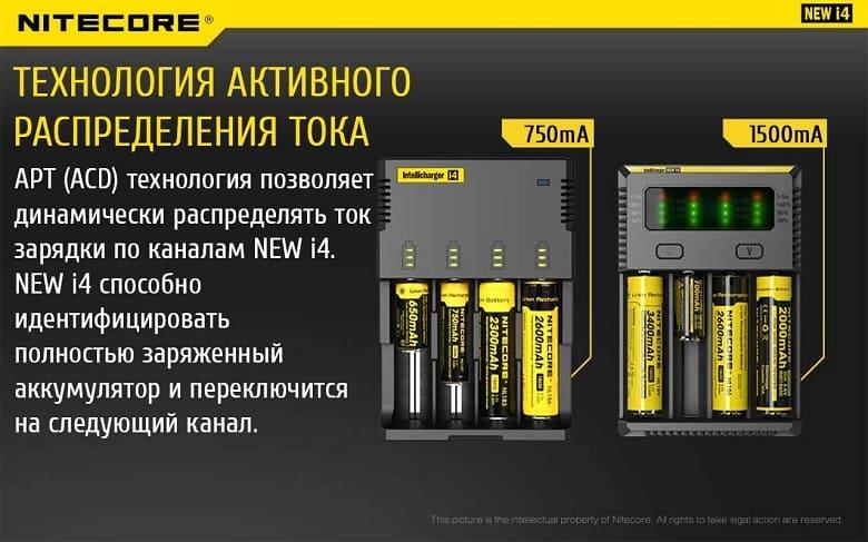 зарядное устройство NITECORE® NEW i4 фото 5